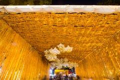 Il bello fiore incurva in fiore del ` per attività del ` del padre per essere informato di re Bhumibol Adulyadej della Sua Maestà Immagine Stock