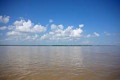 Il bello fiume di Irrawaddy fotografia stock