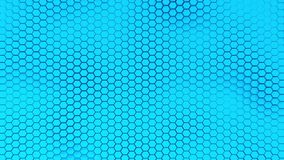 Il bello fondo blu del hexagrid con il mare molle ondeggia Fotografia Stock