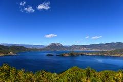 Il bello lago di Lugu Fotografia Stock Libera da Diritti