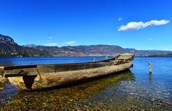 Il bello lago di Lugu Fotografia Stock
