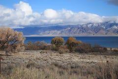 Il bello lago Nevada pyramid immagini stock