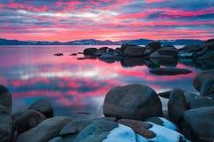 Il bello lago Tahoe California fotografie stock