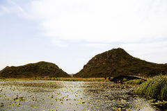 Il bello lakeview nella contea di puzhehei, il Yunnan, porcellana Fotografie Stock Libere da Diritti