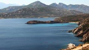 Il bello litorale della Corsica vicino a Calvi archivi video