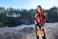 Il bello modello di moda sexy del fascino della donna femminile perfeziona Fotografia Stock Libera da Diritti