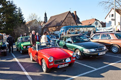 Il bello oldtimer ha luogo nei classici 2011 di MTK al suppor Fotografie Stock Libere da Diritti