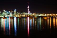 Il bello orizzonte di Auckland Fotografia Stock