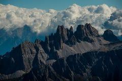 Il bello paesaggio del paesaggio di italien le dolomia, il lagazuoi di rifugio, il dÂ'ampezzo della cortina, falzarego di passo Fotografia Stock Libera da Diritti