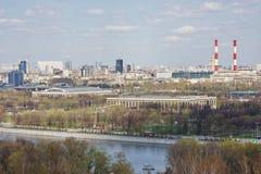 Il bello paesaggio della città è in città Mosca Immagini Stock