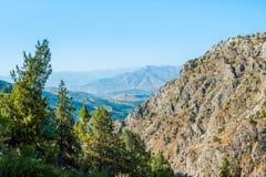 Il bello paesaggio della montagna uzbekistan Fotografie Stock