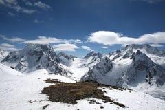 Il bello paesaggio delle montagne di Caucaso Immagine Stock Libera da Diritti