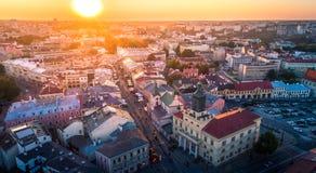 Il bello panorama di Lublino immagine stock libera da diritti