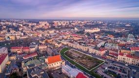 Il bello panorama di Lublino fotografia stock