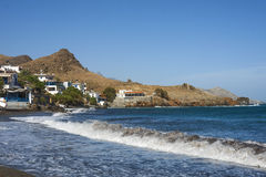 Il bello panorama a Lendas, Creta Fotografia Stock