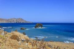 Il bello panorama a Lendas, Creta Immagine Stock Libera da Diritti
