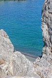 Il bello panorama a Lendas, Creta Fotografia Stock Libera da Diritti