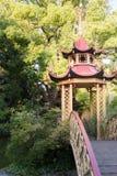 Il bello parco della villa Pallavicini, in Genua, l'Italia chines Immagine Stock Libera da Diritti