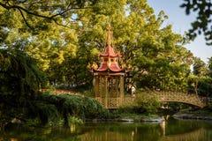 Il bello parco della villa Pallavicini, in Genua, l'Italia chines Fotografia Stock