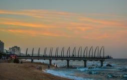 Il bello pilastro della passeggiata di Umhlanga un fanone ha fatto il pilastro nel KwaZulu Natal Durban North South Africa durant fotografia stock