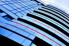 Il bello raccolto dei grattacieli blu Fotografia Stock Libera da Diritti