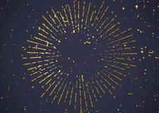 Il bello retro stile luminoso granuloso ha afflitto il explosi dello sprazzo di sole illustrazione vettoriale