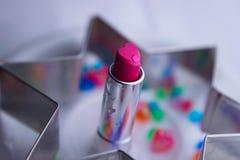 il bello rossetto del waterdrop rende il cuore romantico fotografia stock libera da diritti