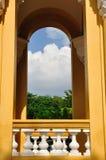 Il bello terrazzo con la vista piacevole Fotografie Stock Libere da Diritti