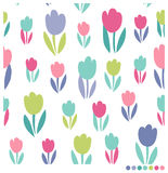 Il bello tulipano fiorisce il fondo senza cuciture Fotografia Stock