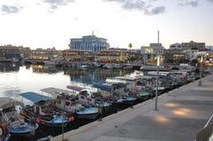 Il bello vecchio porto Limassol nel Cipro fotografia stock libera da diritti