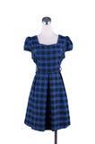 Il bello vestito blu profondo delle donne sul manichino Immagini Stock Libere da Diritti