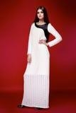 Il bello vestito sexy dalla donna copre il catalogo della raccolta Fotografia Stock