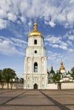 Il belltower di Sophia Cathedral a Kiev immagini stock libere da diritti