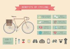 Il beneficio della bici illustrazione vettoriale