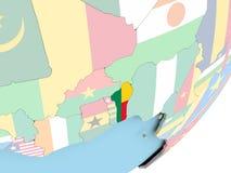 Il Benin con la bandiera Illustrazione di Stock
