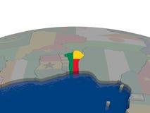 Il Benin con la bandiera Fotografia Stock Libera da Diritti