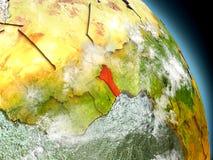 Il Benin da spazio Immagine Stock Libera da Diritti