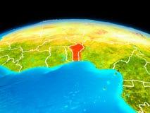 Il Benin nel rosso Illustrazione Vettoriale