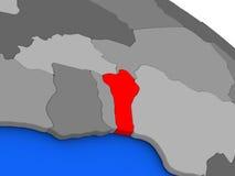 Il Benin nel rosso Fotografie Stock