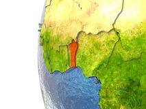 Il Benin nel rosso Fotografia Stock
