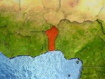 Il Benin nel rosso Immagini Stock Libere da Diritti