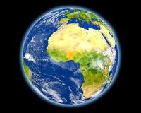 Il Benin nel rosso da spazio Immagini Stock Libere da Diritti
