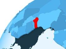 Il Benin sul globo blu Illustrazione di Stock