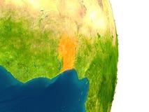 Il Benin sul pianeta Fotografia Stock