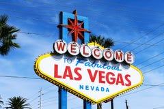 Il benvenuto al segno favoloso di Las Vegas immagine stock libera da diritti