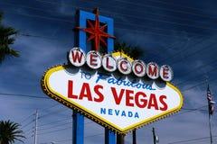 Il benvenuto al segno favoloso di Las Vegas Immagini Stock