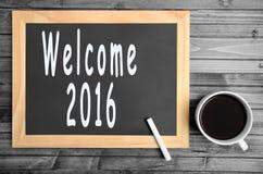 Il benvenuto 2016 di parole Immagine Stock