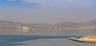 Il Berzdorfer vede il lago Berzdorfer in Germania orientale immagine stock libera da diritti