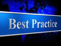 Il best practice indica il numero uno ed il capo Royalty Illustrazione gratis