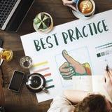 Il best practice sfoglia sul concetto di approvazione Fotografie Stock